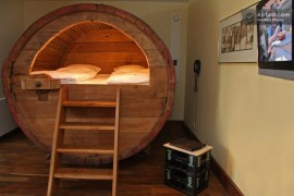 beer barrel bed